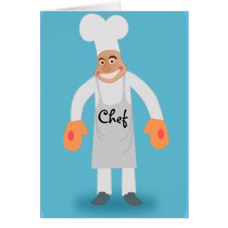 cartão do cozinheiro chefe