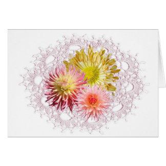 Cartão do Crochet da flor