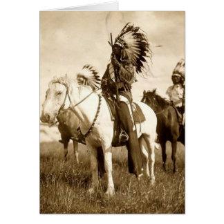 Cartão do cumprimento/nota do nativo americano