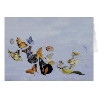 Cartão do ~ das borboletas e das fadas