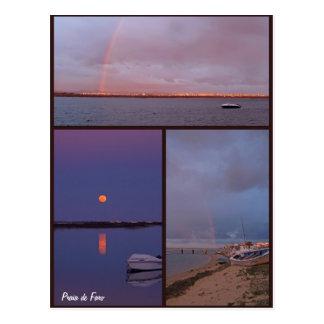 Cartão do de Faro do Praia Cartao Postal