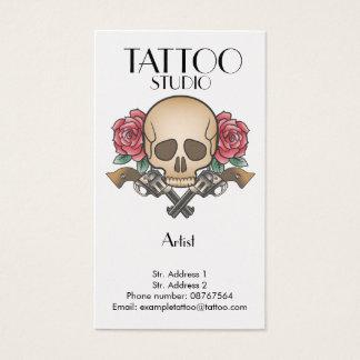 Cartões de visita com desenhos de tatuagem na Zazzle