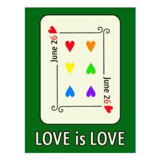 Cartão do dia da igualdade do casamento cartão postal
