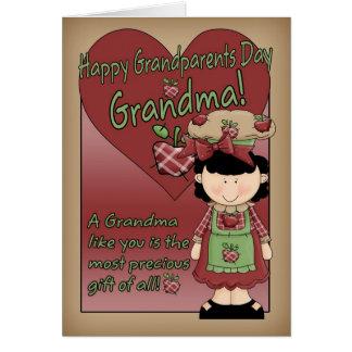 Cartão do dia das avós da avó - senhora pequena de