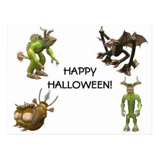 Cartão do Dia das Bruxas Cartões Postais