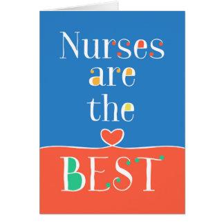 Cartão do dia das enfermeiras - enfermeiras é o