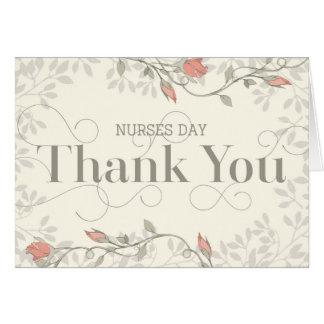 Cartão do dia das enfermeiras - obrigado no texto