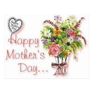Cartão do dia das mães cartão postal