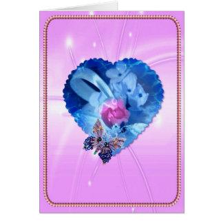 Cartão do dia das mães do amor do coração