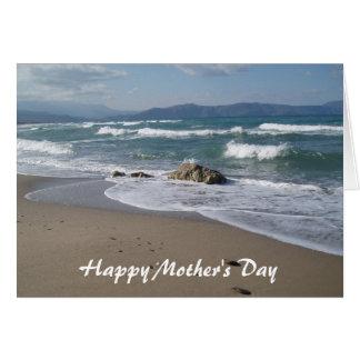 Cartão do dia das mães do Seascape