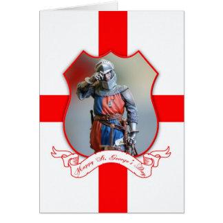 Cartão do dia de St George com cavaleiro