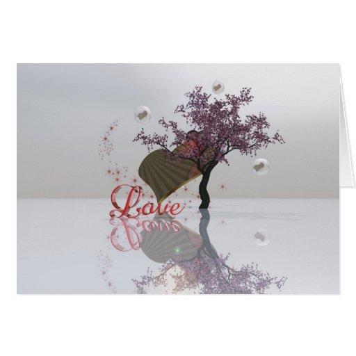 Cartão do dia dos namorados com corações do amor e
