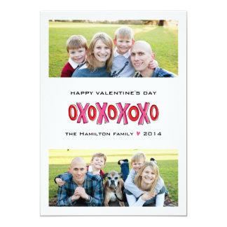 Cartão do dia dos namorados da família da