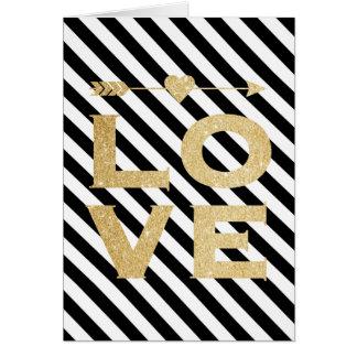 Cartão do dia dos namorados do amor do brilho do