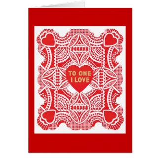 Cartão do dia dos namorados do amor dos corações d