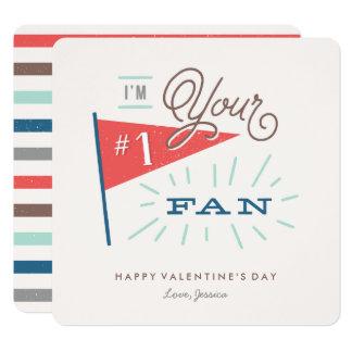Cartão do dia dos namorados do fã #1 convite quadrado 13.35 x 13.35cm