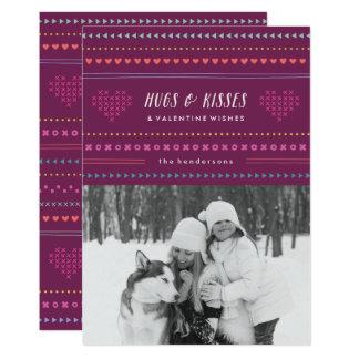 Cartão do dia dos namorados dos abraços & dos