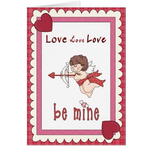 Cartão do dia dos namorados dos corações do amor d