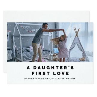 Cartão do dia dos pais do amor de uma filha convite 12.7 x 17.78cm