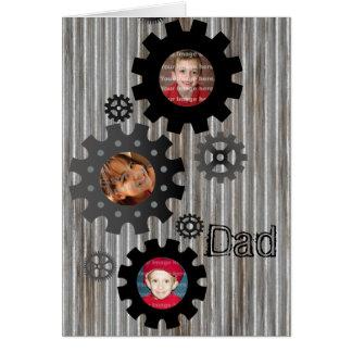 Cartão do dia dos pais do quadro da foto das
