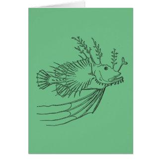 Cartão do diabo-marinho