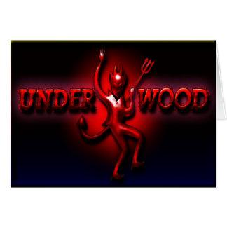 Cartão do diabo vermelho do presunto do Underwood