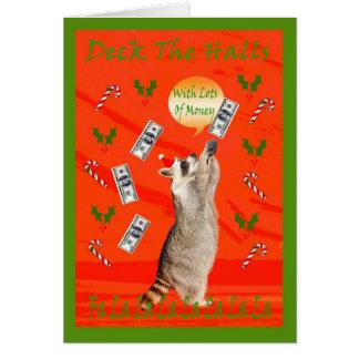 cartão do dinheiro de chris