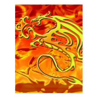 Cartão do dragão do fogo cartões postais