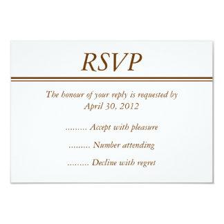 Cartão do evento RSVP, da resposta ou da resposta Convite 8.89 X 12.7cm