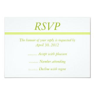 Cartão do evento RSVP, da resposta ou de resposta Convite 8.89 X 12.7cm