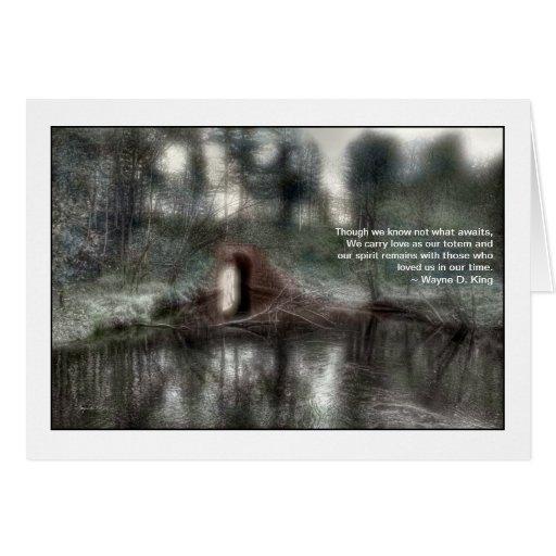 Cartão do falecimento - sonho de Aquaduct