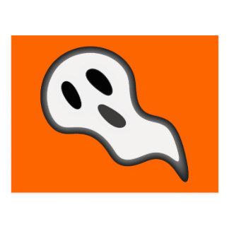 Cartão do fantasma do Dia das Bruxas Cartão Postal