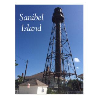 Cartão do farol da ilha de Sanibel