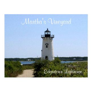 Cartão do farol de Edgartown do Martha's Vineyard