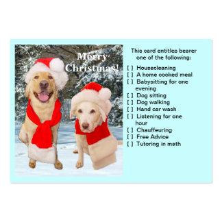 Cartão do favor do Natal Cartão De Visita Grande