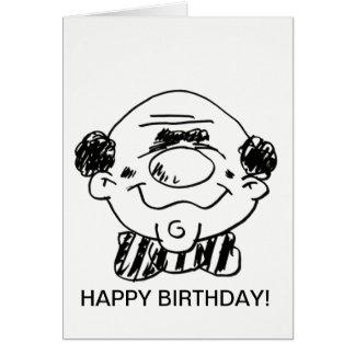 Cartão do feliz aniversario a uma grande cara!