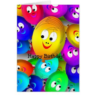 Cartão do feliz aniversario: Caras engraçadas