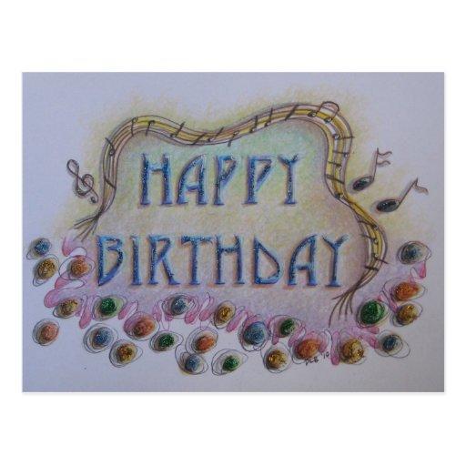 Cartão do feliz aniversario cartoes postais