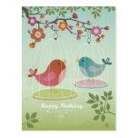 Cartão do feliz aniversario cartao postal