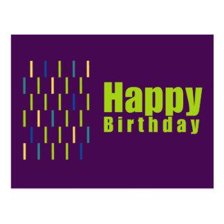 Cartão do feliz aniversario cartão postal