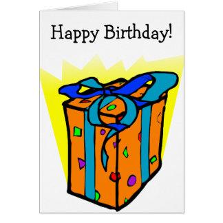 Cartão do feliz aniversario com presente