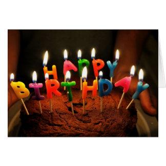 Cartão do feliz aniversario com velas