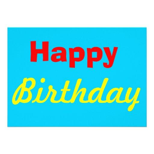 Cartão do feliz aniversario convites personalizado