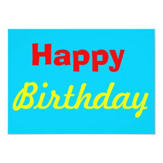 Cartão do feliz aniversario convite 12.7 x 17.78cm