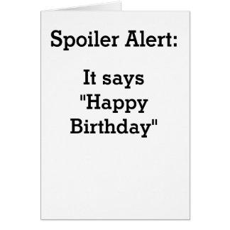 Cartão do feliz aniversario da desmancha prazeres