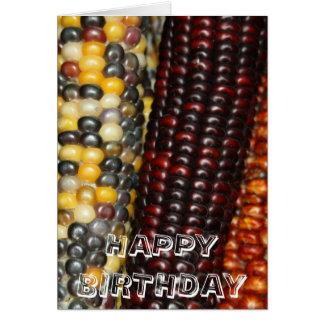 Cartão do FELIZ ANIVERSARIO da variedade do milho