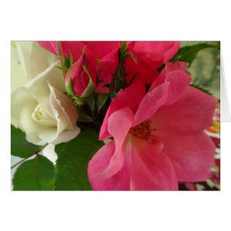 """""""Cartão do feliz aniversario de rosas cor-de-rosa Cartão Comemorativo"""