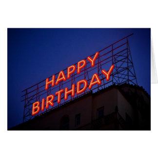 Cartão do feliz aniversario: Feliz aniversario