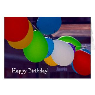 Cartão do feliz aniversario: Festão de balões