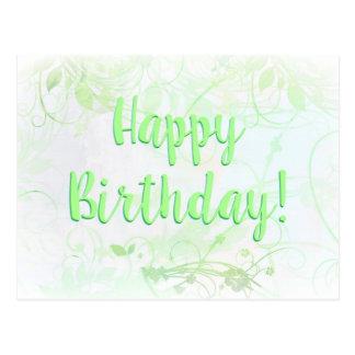 Cartão do feliz aniversario naturalmente cartão postal